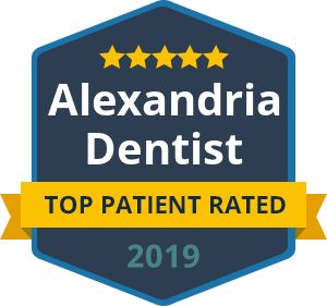Alexandria Dentist 2019 - Top Patient Rated badge
