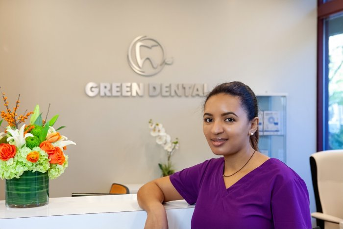 Green Dental Team Dental Assistant Frehiwot