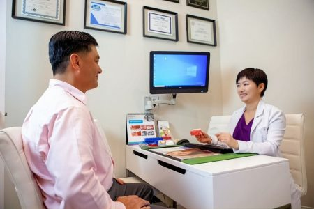 Dr Park Consultation with patient