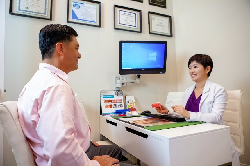 Dr Park Consultation with patient