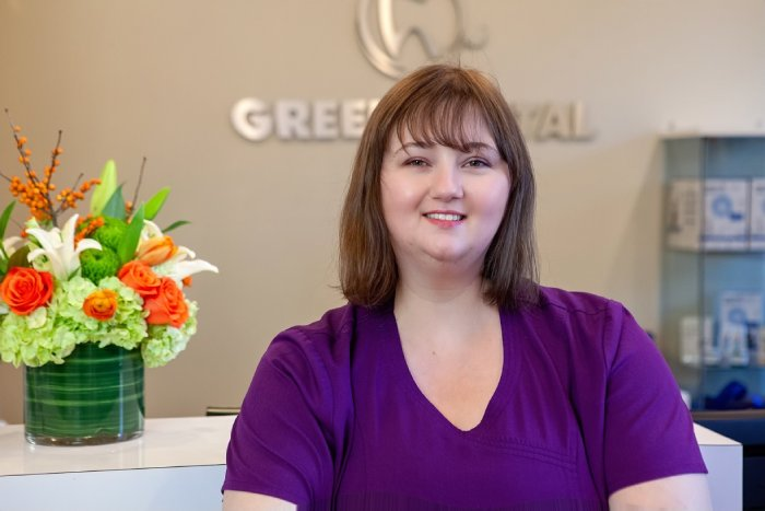 Green Dental Team Lead Dental Assistant, Goldie Fossa